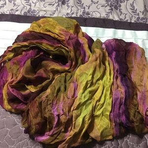 Coldwater Creek Purple & Gold Scarf